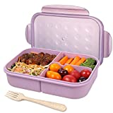 Bento Box for Adults Lunch Containers for Kids 3 Compartment Lunch Box Food