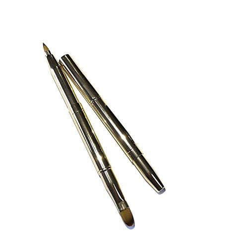 yyy123 Beauty Tools Pinceau À Lèvres Correcteur Double Usage Télescopique Portatif