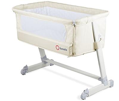 Baby Cama auxiliar Theo en beige con colchón, mosquitera, organizador y funda