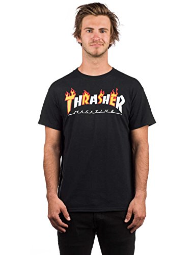 Thrasher tshirt flame mag nera (s)