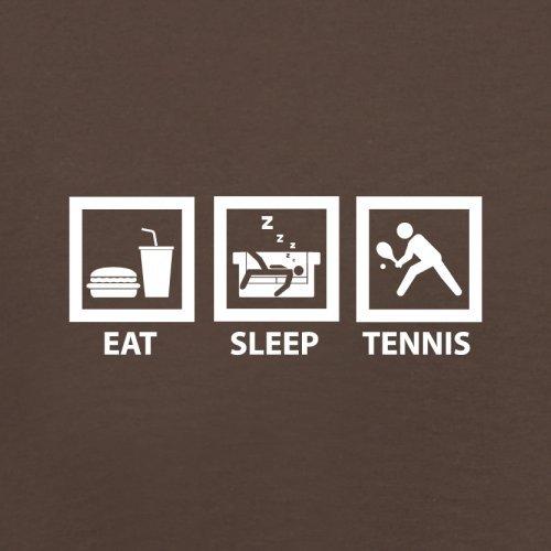 Eat Sleep Tennis - Herren T-Shirt - 13 Farben Schokobraun