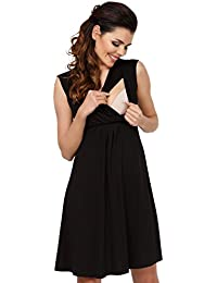 Zeta Ville - Premamá Vestido de Lactancia Efecto 2 en 1 Capa - para Mujer -