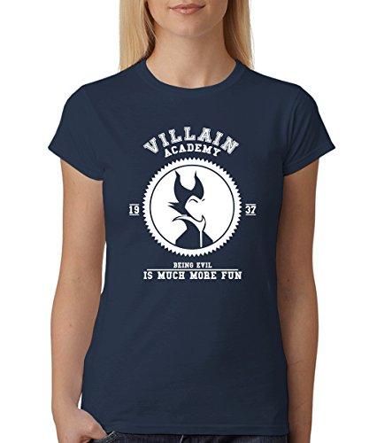 - Villain Academy - Girls T-Shirt Navy, Größe -