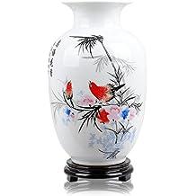 Pájaro Rojo Jarrón de cerámica