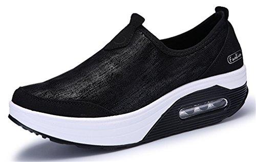 NEWZCERS Sneaker Donna, Grigio (Grau), 41 EU