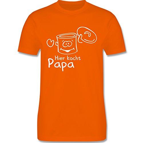 Küche - Hier kocht Papa - Herren Premium T-Shirt Orange