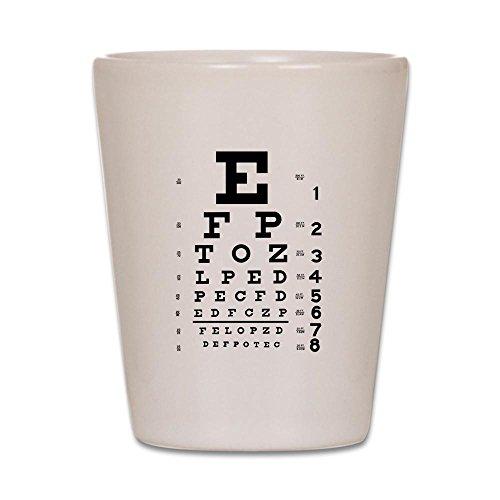 CafePress Eye Chart Schnapsglas weiß