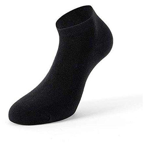 Lenz Sneaker Socken Duos 7er Pack Schwarz Unisex 1-7 Nummeriert Herren Damen Sommer Strümpfe, 2640, Größe 43 - 46