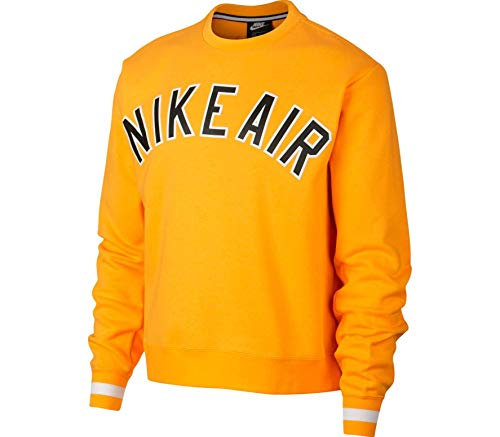 Nike Herren Air Crew Fleece Sweatshirt, University Gold, L -