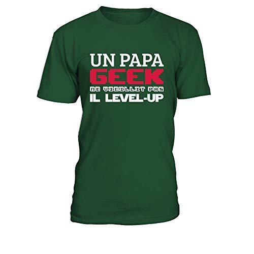 teezily T-Shirt Un Papa Geek Ne Vieillit Pas Il...