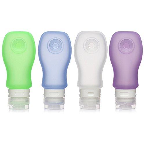 Nahrungsmittelgrad-silikon-spray (kitdine Silikon Reise Flaschen Flexibler & nachfüllbar Travel Container für Shampoo, Conditioner, Lotion, Toilettenartikel - TSA für Flugreisen zugelassen, WhiteBlueGreenPurple (Mehrfarbig) - WhiteBlueGreenPurple)