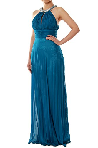 MACloth Women Crystal Halter Chiffon Long Prom Gwon Formal Evening Party Dress Olivgrün