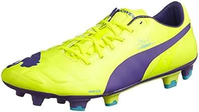 Puma Evopower 1 Fg, Chaussures de football homme, Orange (Fluro Yellow-Prism Violet-Scuba Blue 08), 8.5