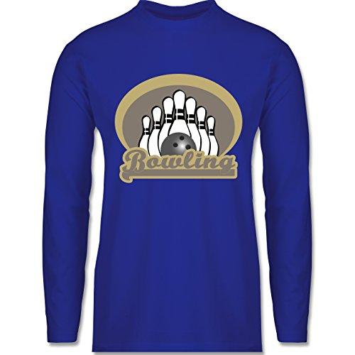 Shirtracer Bowling & Kegeln - Bowling Old School - Herren Langarmshirt Royalblau