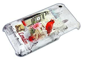 Apple iPhone 3 G 3 GS London Red Bird Telephone Booth de protection Housse Hard Case Cover thematys®
