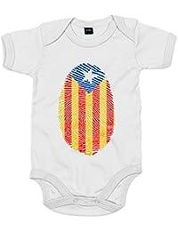 Body bebé Emprenta ADN senyera Catalunya Independent Independència