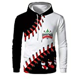 serliy3D Gedruckter Herrenpullover, Slim Fit Funktions-Sweatshirt Weihnachten 3D gedruckte Pullover Langarm Kapuzenpullover Tops