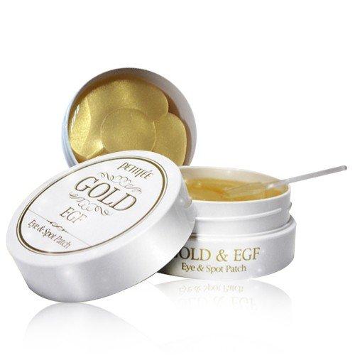 Petitfée - Gold & EGF Eye Patch - 60 x Goldene Augenpads gegen Augenringe und Falten mit dem Epidermal Growth Factor - Eyepatches mit Gold