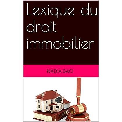 Lexique du droit immobilier