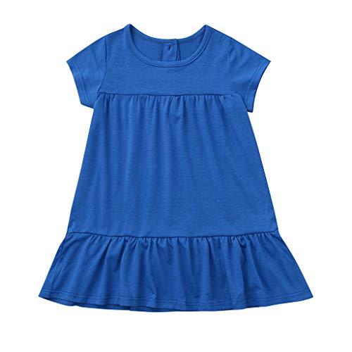 Kleinkind Mädchen Kurzarm Prinzessin Party A-Line Tiered Schaukel Kleiden