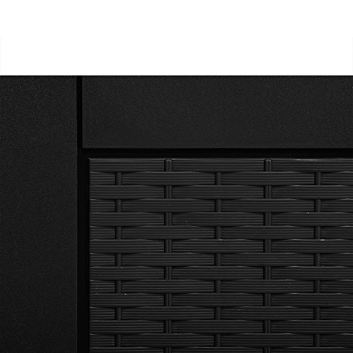 Auflagenbox 120x50x60 Rattan Anthrazit Gartentruhe Kissenbox Universalbox Kissentruhe Werkzeugbox -