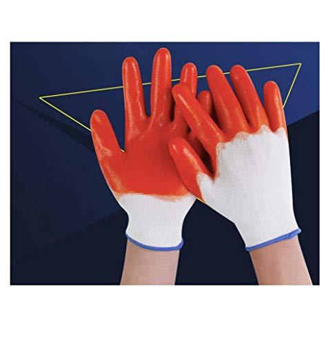 Strapazierfähige und arbeitssparende Arbeitshandschuhe aus Kunststoff, abriebfeste Handschuhe aus PVC-Sehnen, wasserdichte und ölbeständige Arbeitsschuh-Gummihandschuhe@M_A1