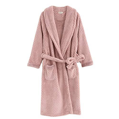 Pijamas Terciopelo Terciopelo túnica cálida Larga