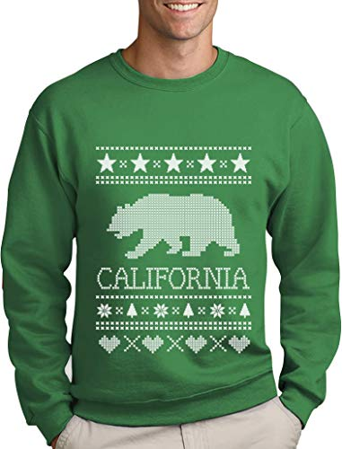 s California Republic Cali Bär Fan Sweatshirt Medium Grün ()