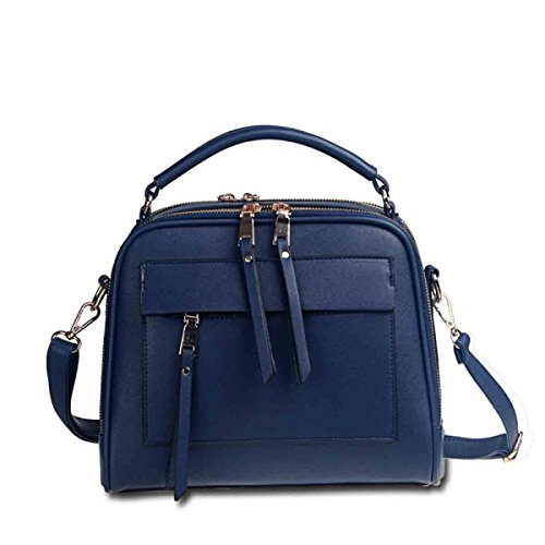 KUWOMINI.Women Bags Primavera Estate Autunno Inverno All Seasons PU Borsa A Tracolla Con Rivetto Per Evento Di Nozze / Party Casual Ufficio Formale All'aperto E Carriera Blue