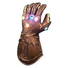 Prumya Endgame Infinity War Infinity Gauntlet LED Light Thanos Gloves(Adult Size)