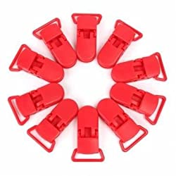 Generic 10pcs Plastic Baby Boy Girl Dummy Clips Teat Pacifier Soothers Nipple Cradle Strap Holder
