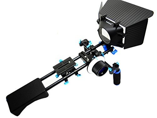 DSLR Rig Koolehaoda Schulterpolster Unterstützung Mount + Handgriff + Follow Focus + Matte Box Video Film Kit Kombination für DV DSLR HDV HD Camcorder Canon -