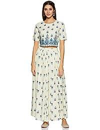 Amazon Brand - Tavasya Women's Skirt with Crop Top