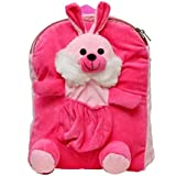 PRACHI Toys Cute Rabbit Soft Toy For School Bag For Kids, Travelling Bag, Carry Bag, Picnic Bag, Monkey Bag ( Pink )