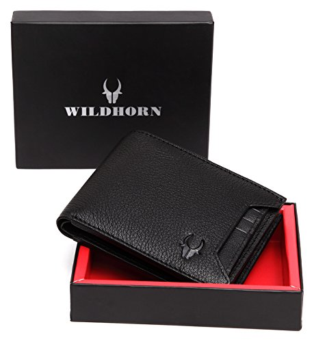 8d4862910843 WildHorn Old River Black Genuine High Quality Mens Leather Wallet –   Rs.499