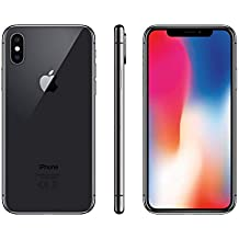 "Apple iPhone X, 5,8"" Display, SIM-Free, 64 GB, 2017, Space Grau (Generalüberholt)"