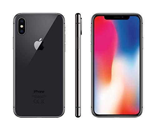 """Apple iPhone X, 5,8"""" Display, Sim-Free, 256 GB, 2017, Space Grau (Generalüberholt)"""
