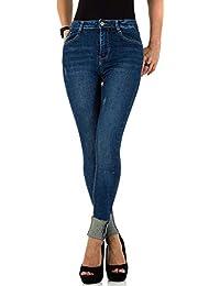 Schuhcity24 Damen Jeans Hose Jeanshose High Waist Skinny Röhre Karotte  XS 34-XL  477d8dac44