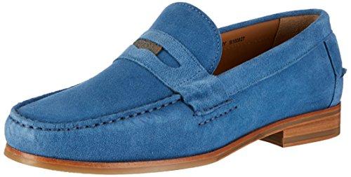 Sebago Conrad Penny, Mocassins Homme Bleu (Blue Suede)