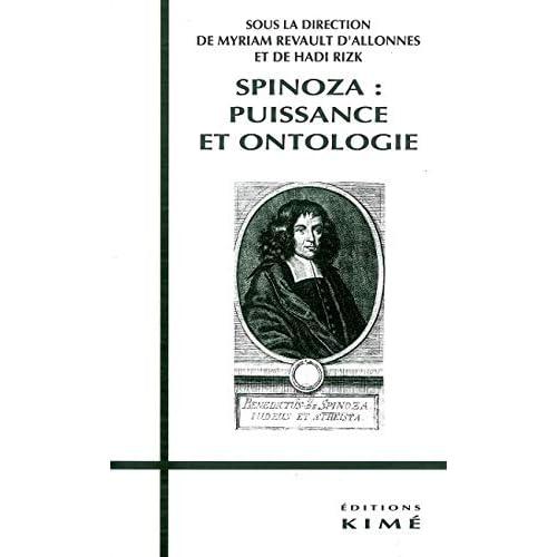 Spinoza Puissance et Ontologie
