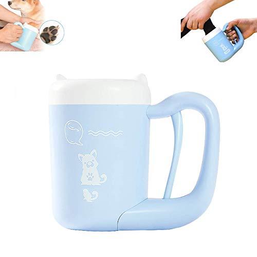 YXYXN Hundepfoten Reiniger, tragbarer Haustier Fußwaschbecher, Haustier Reinigungsbürstenbecher für Hunde, reinigt Haustier schlammige schmutzige Pfoten sanft und schnell,Blue -