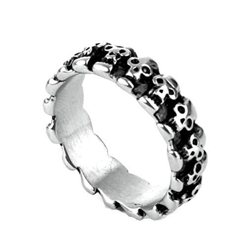 Beydodo 925 Silber Ring für Herren Totenkopf Rund Freundschaftsringe Partner Ring Gr. 57 (18.1)