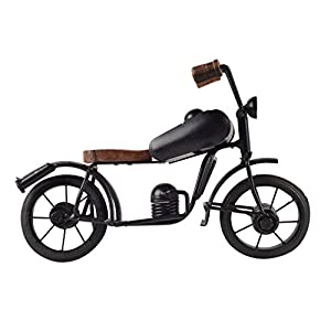 Meenakshi Handicraft Emporium MHE Wrought Iron Decorative Miniature Bullet Bike for Home Decoration (Black)