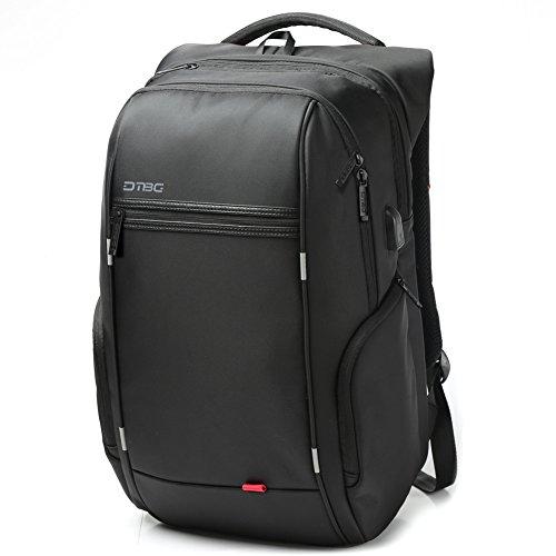 17-Zoll-Laptop-Rucksack-mit-USB-Port-DTBG-Nylon-Wasserdicht-Arbeit-Laptop-Rucksack-College-Schultertaschen-Reisetasche-Wandern-Rucksack-fr-17-173-Zoll-Laptop-Notebook-Tablet-Computer-Schwarz