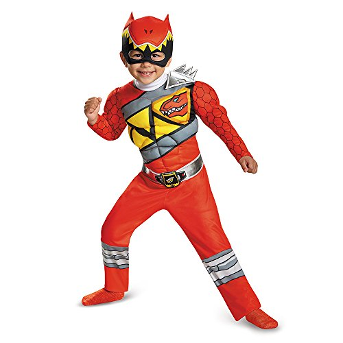 Power Rangers Dino Charge Red Toddler Muscle Costume 4-6 (Dino Charge Red Ranger Kostüm)