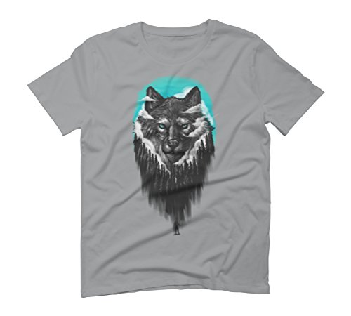 facing the wolf Men's Graphic T-Shirt - Design By Humans Opal