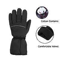 Beheizbare Handschuhe,CAMTOA Wiederaufladbare Beheizte Handschuhe Winter Heizung Wärme Skihandschuhe für Camping Wandern Fahrrad Motorrad Sport (ohne Batterien)