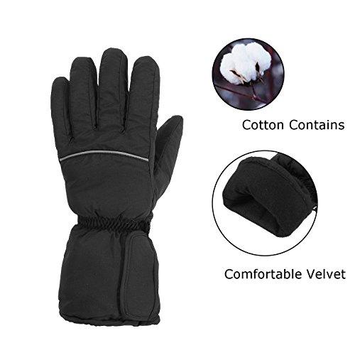 Preisvergleich Produktbild Beheizbare Handschuhe,CAMTOA Wiederaufladbare Beheizte Handschuhe Winter Heizung Wärme Skihandschuhe für Camping Wandern Fahrrad Motorrad Sport (ohne Batterien)