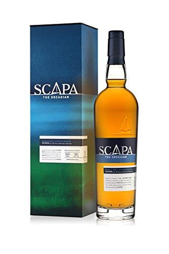 Scapa The Orcadian Skiren Single Malt Scotch Whisky – Der weltweit einzige Whisky nach Lochmond Wash Still Verfahren – Whisky mit fruchtiger Honignote – 1 x 0,7 L