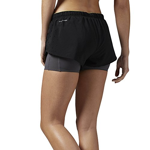 Reebok Damen One Series Running 2-in-1 Shorts Black